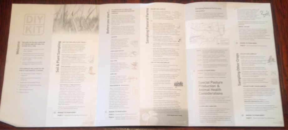 Info sheet from soil and plant DIY kit from hills laboratories