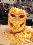 Scott Cully Carving a Pumpkin in Gisborne