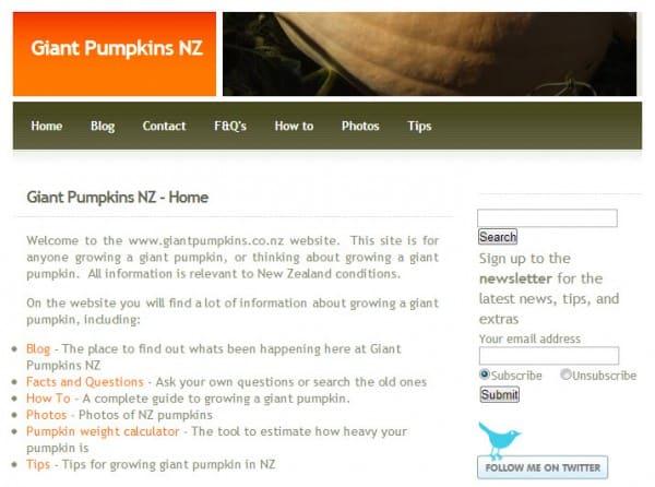 Giant Pumpkin 2010 Screen Shot