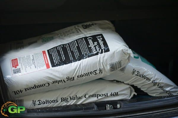 Compost Bags Loaded into Boot of the Car